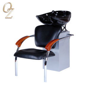 Hair Salon Furniture Professional Fire Retardant Leather Shampoo Unit Chair Pedestal Basin Wholesale