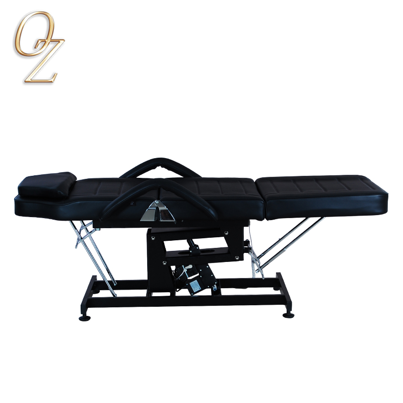 Hydraulic Multifunctional Salon Bed Wooden Mobile Massage Bed Folding Cosmetology Bed