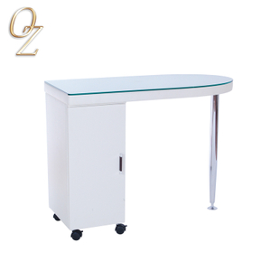 Salon equipment cheap glass top manicure table salon nail station
