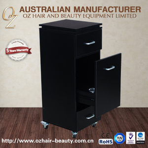 Black Stylist Hairdressing Trolley Large Production Beauty Salon Work station Cabinet Cart