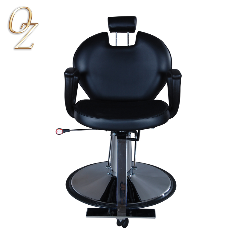 Australian Standard High Density Foam Hair Cut Chair Barber Salon Equipment Hydraulic Reclining Styling Chairs With Footrest