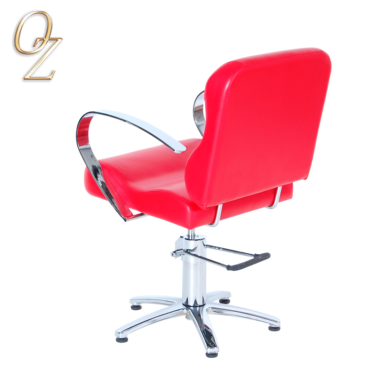 Good Quality Beauty Salon Chair With Footrest Hydraulic and Reclining Hair Styling Chairs Furniture