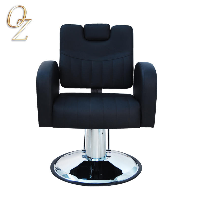 Black Hydraulic PVC Vinyl hair cut Styling Chair Hair Salon Equipment