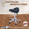 Medical Doctor Saddle Stool Chair Clinic Dental Stool Fixed Bar Stool