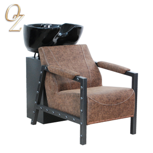 Luxury Beauty Salon Equipment Backwash Shampoo Washing Chair In New Loft Design Shampoo Unit With Bowl