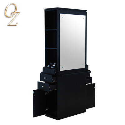 Hair salon barber mirror station with cabinet stylist station double sides mirror workstation CAB05