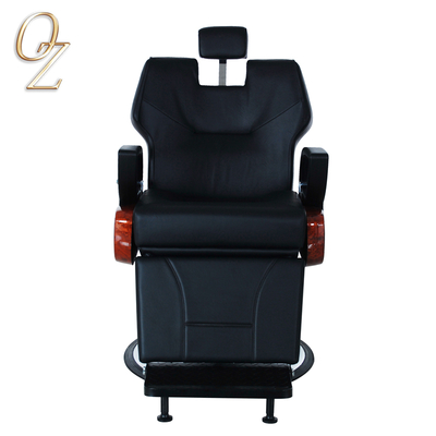 PVC Leather Haircut Chair Barbershop Equipment Manufacturer Black Beard Shaving Chairs