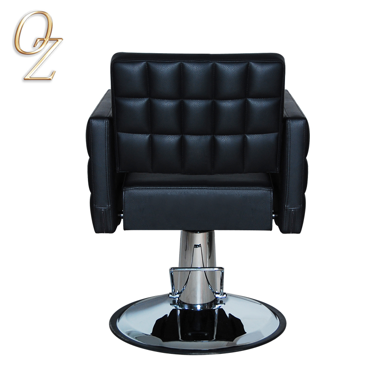 New Arrival Barber Salon Chairs With Check Style Stitch Salon Furniture Hair Cutting Chair For Beauty Shop Styling Chair