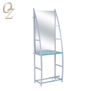 Stainless Makeup Salon Mirror Hairdressing Mirror Salon Styling Station