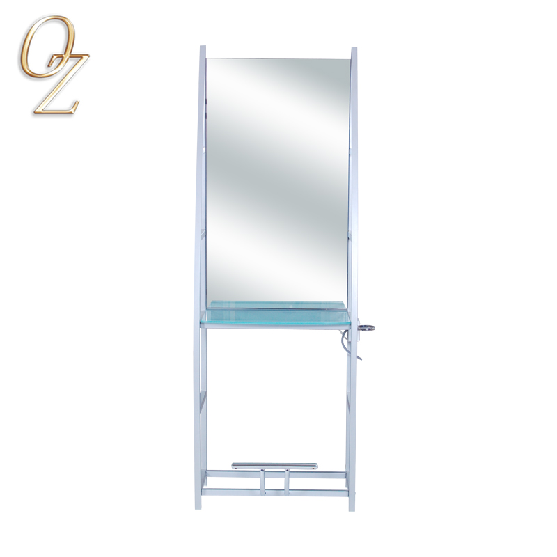 New Design Portable Hair Salon Furniture Antique Beauty Mirror Station For Beauty Salon Station Mirror