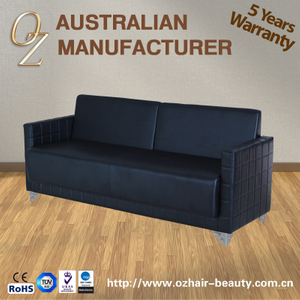 Black Waiting Chair Hair Salon Reception Benches Waiting Lounge Wholesale Bank Hospital Airport Chair