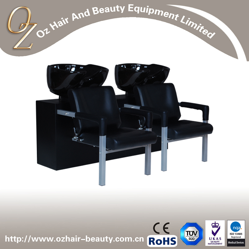 Salon Hair Equipment Shampoo Chair Double Seat Shampoo Set Shampoo Chair With Sink