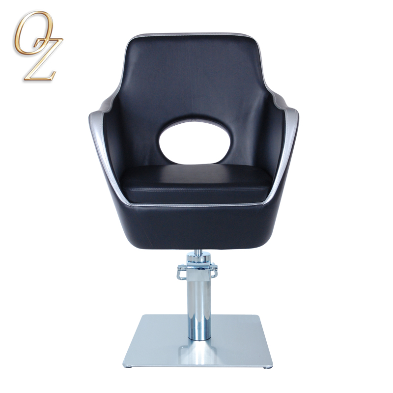 Luxury Hydraulic Hair Cut Chair Factory Classical PVC Vinyl Styling Chairs Black Beauty shop Furniture