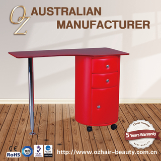 Technician Customized Glass Table Nail Salon Furniture Manicure Table
