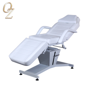Australian Standard White Genuine Leather Massage Bed Manufacturer Facial Table Pedicure Chair