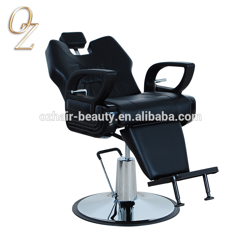 Hydraulic and Reclining Barber Salon Chair PVC Vinyl Hairdressing Chair Hair Cut Chairs With Headrest