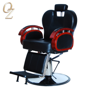 Modern Barber Chairs With Headrest Factory Beauty Equipment Hydraulic and Reclining Beard Shaving Chair